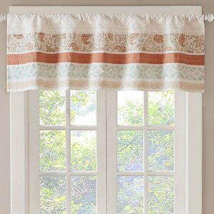 Madison Park Dawn Printed and Pieced Valance 50x18
